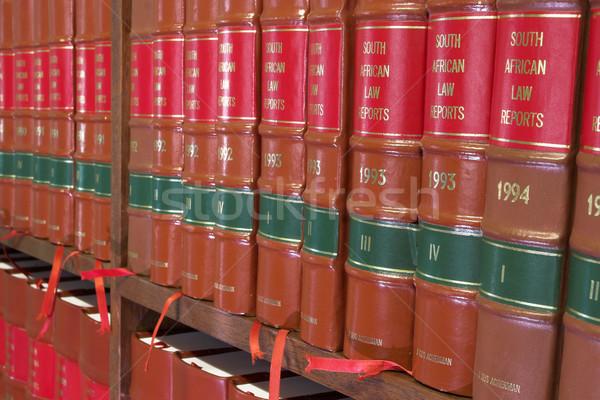 Yasal kitaplar kütüphane ahşap kitaplık güney afrika Stok fotoğraf © Forgiss