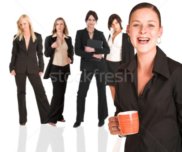 Stockfoto: Vrouw · groep · jonge · moderne · zakenvrouw