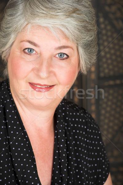 Ouderen Italiaans vrouw ouder kaukasisch zwarte Stockfoto © Forgiss