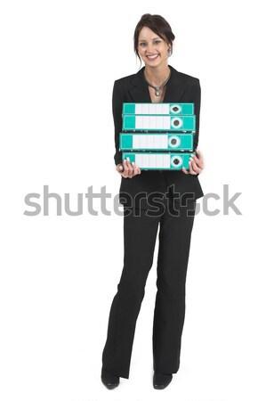 Escuro mulher de negócios alavanca arco arquivos Foto stock © Forgiss