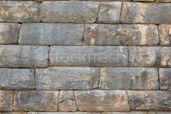 Turquia velho parede textura ruínas cidade Foto stock © Forgiss