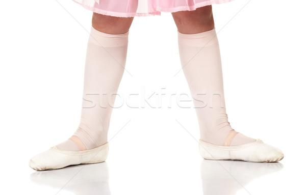 Ballet voeten posities jonge vrouwelijke balletdanser Stockfoto © Forgiss