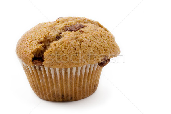 Alimentos 16 caramelo chip muffin blanco Foto stock © Forgiss