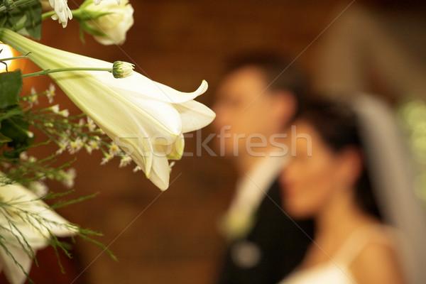 ślub bukiet oblubienicy pan młody płytki Zdjęcia stock © Forgiss