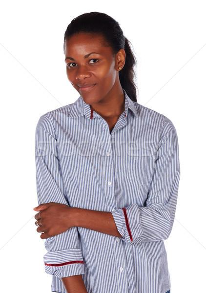 Hermosa África mujer bastante negro Foto stock © Forgiss