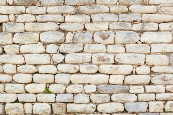 Turkije oude muur textuur ruines stad Stockfoto © Forgiss