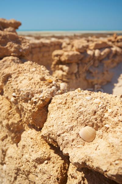 руин пустыне оригинальный торговый пост Сток-фото © forgiss