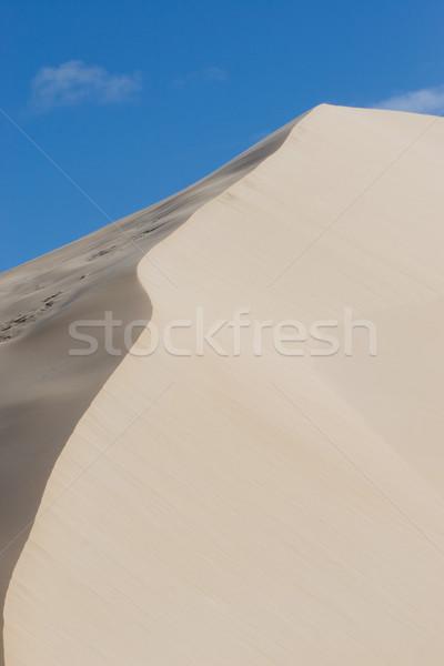 Zand blauwe hemel textuur woestijn texturen golf Stockfoto © Forgiss