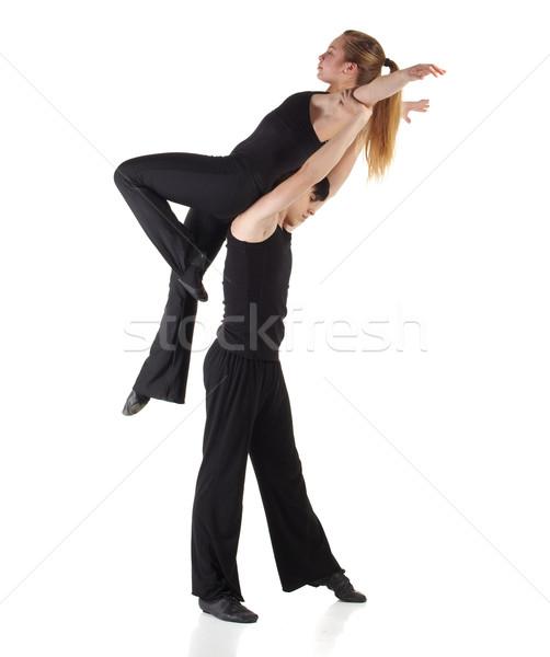 Modern dzsessz táncos fiatal kaukázusi fekete Stock fotó © Forgiss