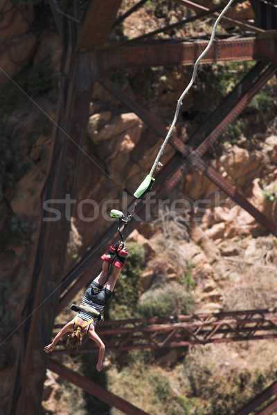 Bungee jumper #1 Stock photo © Forgiss
