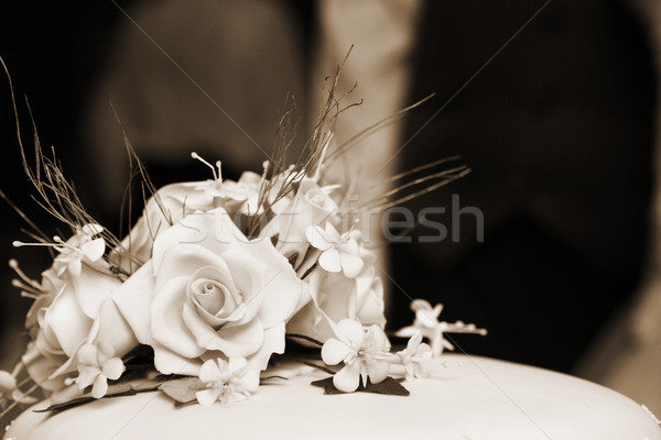 Boda primer plano pastel de bodas superficial flor Foto stock © Forgiss