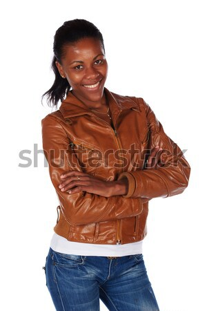 Hermosa África mujer negro marrón Foto stock © Forgiss