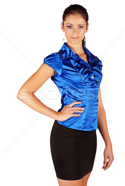 Belle brunette femme femme d'affaires Photo stock © Forgiss