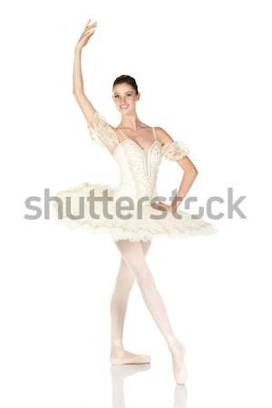 Jeunes ballerine brunette fille blanche Photo stock © Forgiss