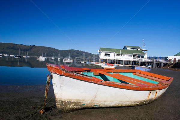 Boot verlaten water haven South Africa Rood Stockfoto © Forgiss