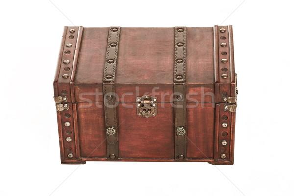 Open tesoro caso bianco oro lock Foto d'archivio © Forgiss