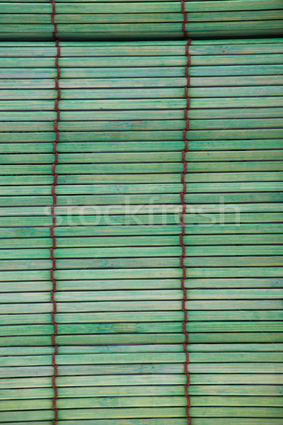 Green bamboo placemat Stock photo © Forgiss