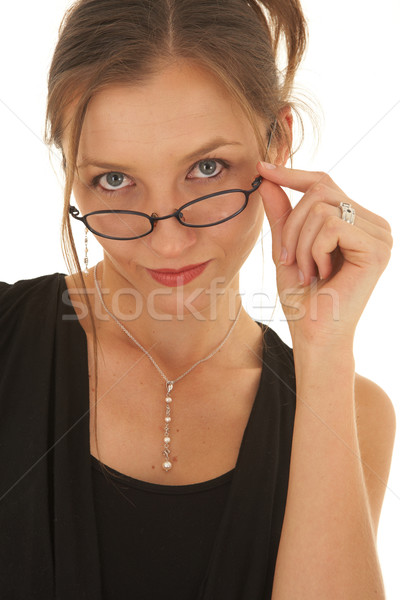 Belle femme d'affaires portrait jeunes verres Photo stock © Forgiss