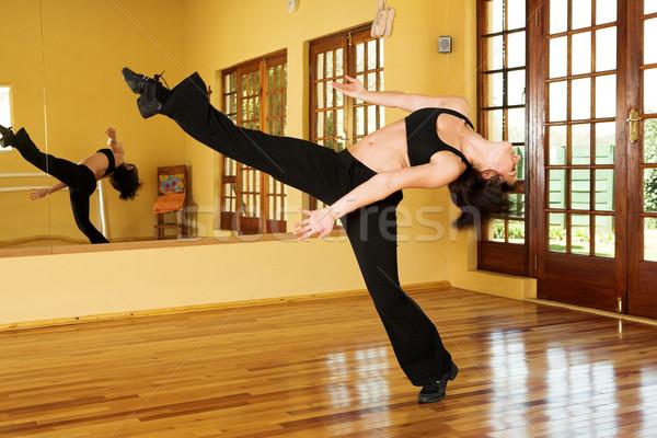 Сток-фото: танцовщицы · женщины · студию · движения · женщину