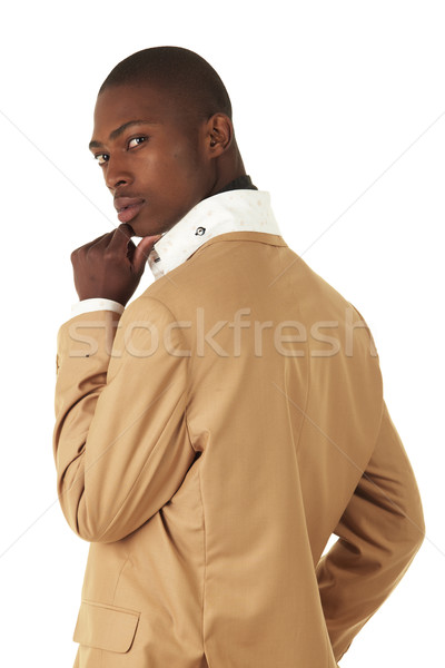 Preto africano empresário jovem profissional adulto Foto stock © Forgiss