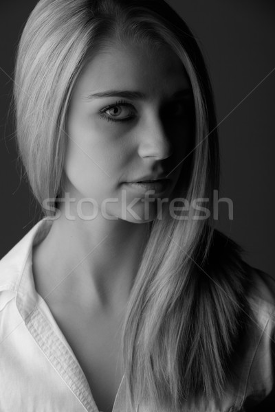 Belle femme blonde femme longtemps Photo stock © Forgiss
