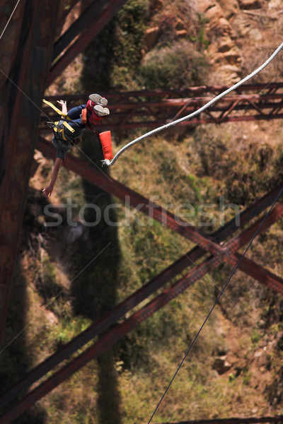Stock photo: Bungee jumper #6