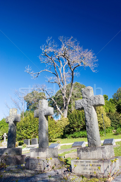 Vieux pierre grave forme croix église Photo stock © Forgiss