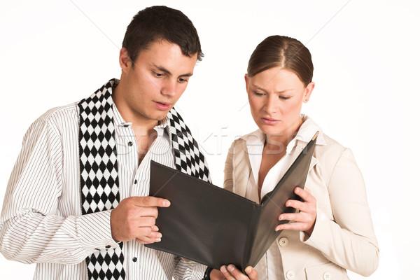 Pessoas de negócios dois parceiros de negócios uma mulher um homem Foto stock © Forgiss