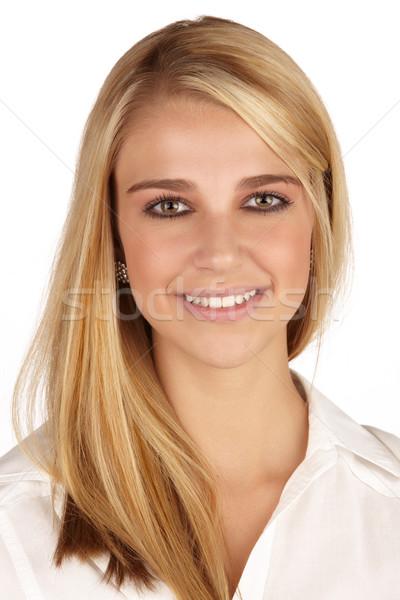 Belle femme blonde femme longtemps Photo stock © Forgiss