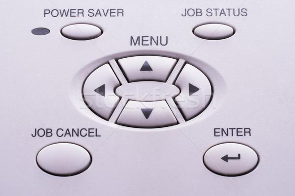 Clé télécopieur vert commencer bouton Photo stock © Forgiss