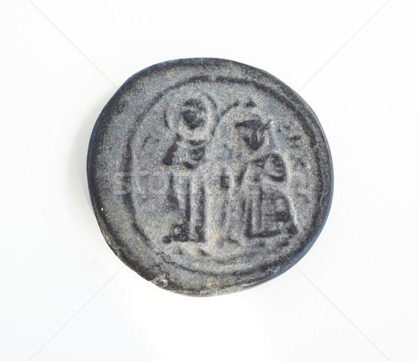 Antica romana monete antichi Turchia bianco Foto d'archivio © Forgiss