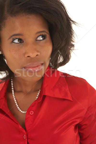 Belle africaine femme d'affaires portrait jeunes blanche Photo stock © Forgiss