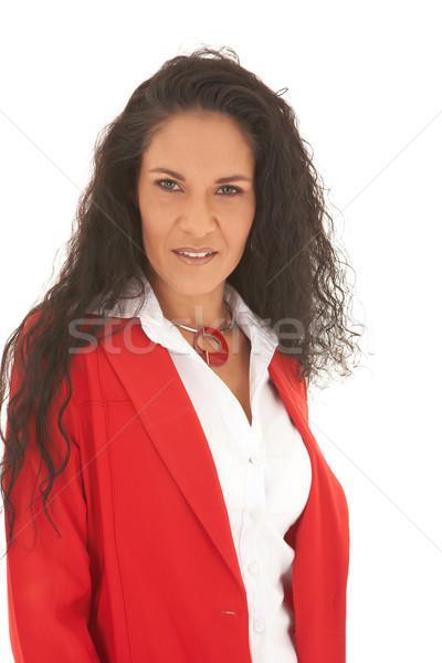 Belle femme d'affaires portrait jeunes longtemps Photo stock © Forgiss