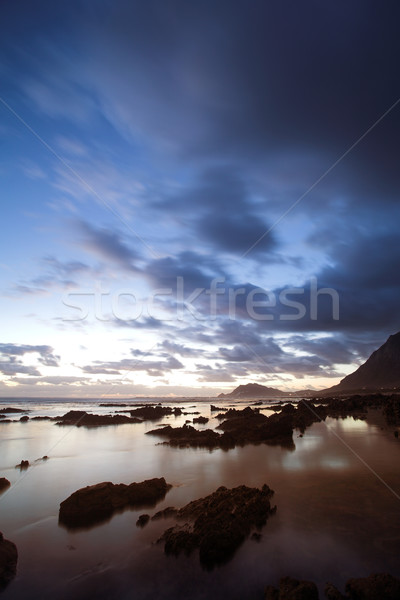 Zee landschap strand westerse South Africa hemel Stockfoto © Forgiss