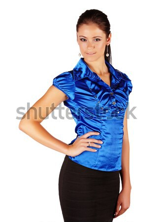 Mooie brunette vrouw kaukasisch zakenvrouw Stockfoto © Forgiss