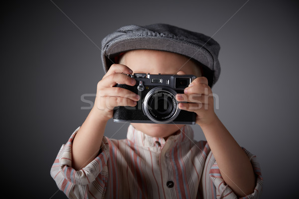 Young press photographer Stock photo © forgiss