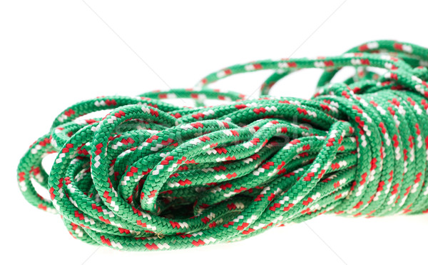 Vert nylon corde rouler escalade cravate Photo stock © Forgiss