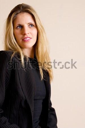 Stok fotoğraf: Kadın · siyah · ofis · çalışmak