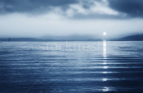Tramonto mediterraneo basso sole francese acqua Foto d'archivio © Forgiss