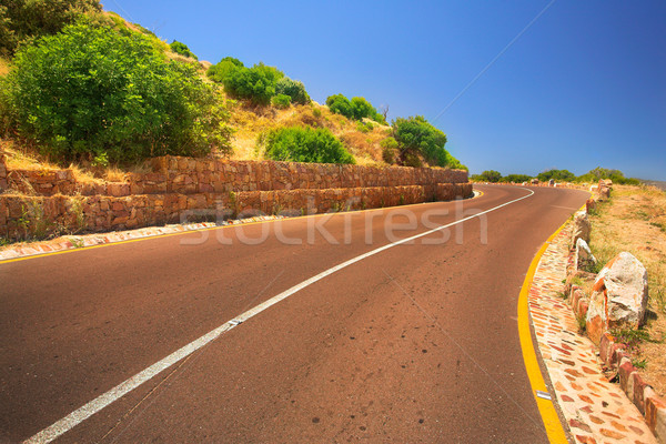 The Chapmanspeak road under a Blue sky Stock photo © Forgiss