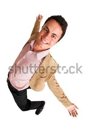 Empresário sorridente negócio trabalhar corporativo trabalho Foto stock © Forgiss