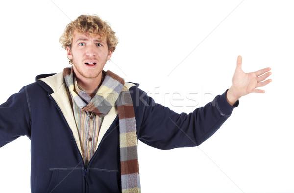 Portrait of Caucasian man Stock photo © Forgiss