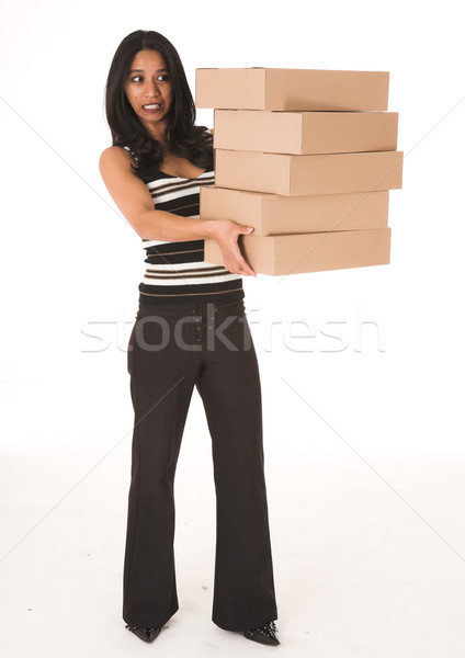 África mujer de negocios casual oficina Foto stock © Forgiss