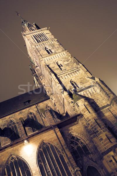 Munique 50 edifício janela noite escuro Foto stock © Forgiss