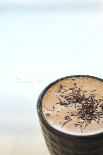 Cafe latte in coffee mug Stock photo © Forgiss