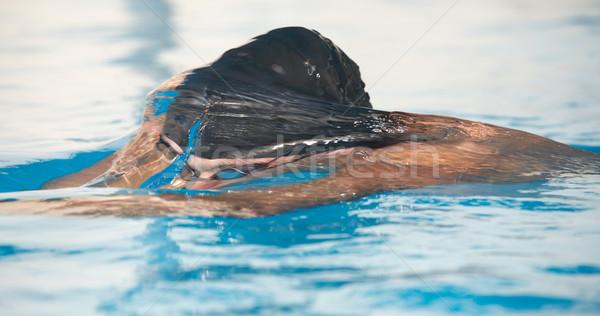 Zwemmer gezonde mannelijke aquatisch atleet Stockfoto © Forgiss