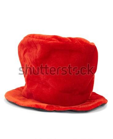 Christmas hoed Rood witte Stockfoto © Forgiss