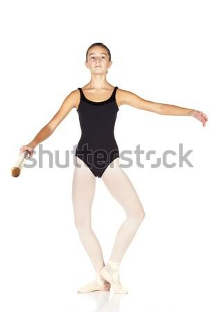 Ballet stappen jonge kaukasisch ballerina meisje Stockfoto © Forgiss
