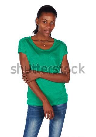 Hermosa África mujer negro esmeralda Foto stock © Forgiss