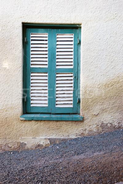 Ventana blanco casa casa marco azul Foto stock © Forgiss
